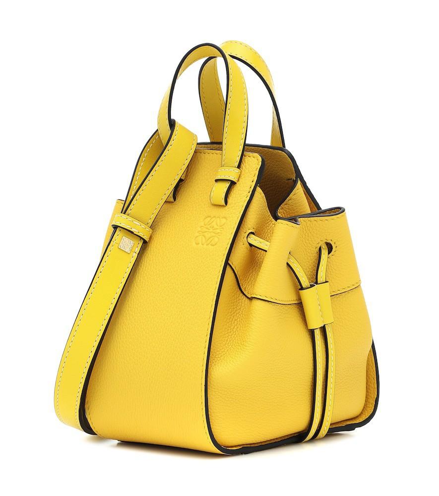 Loewe Hammock Mini leather shoulder bag in yellow