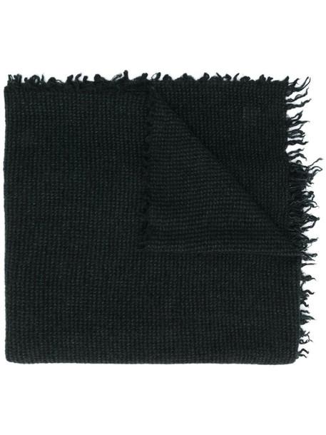 Faliero Sarti micro-plaid scarf in black