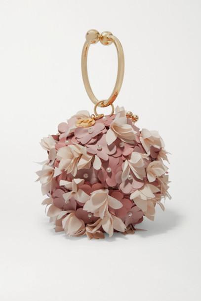 Rosantica - Edera Embellished Gold-tone Tote - Pink