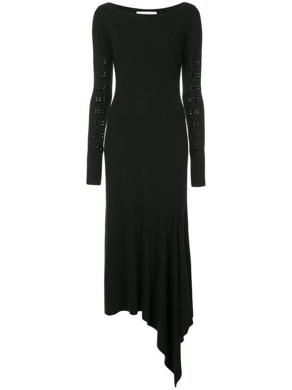 Olivier Theyskens hook-and-eye detail dress in black