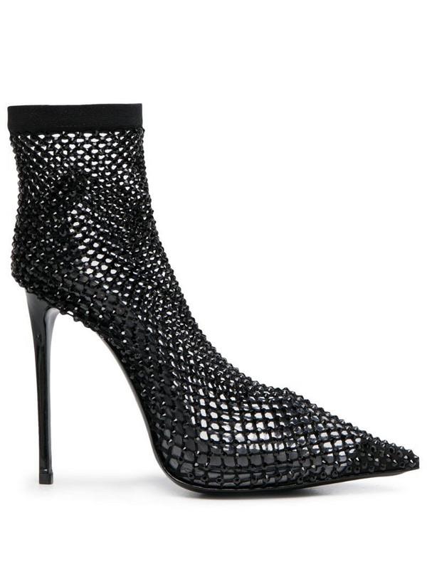 Le Silla Gilda crystal-sock booties in black