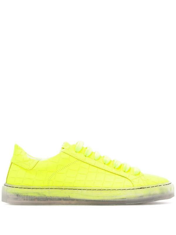 Hide&Jack Essence embossed low-top sneakers in yellow