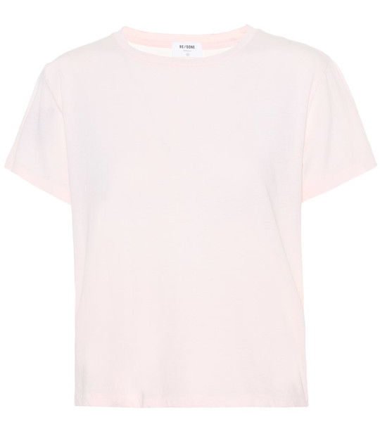 Re/Done Modern Classic cotton T-shirt in pink
