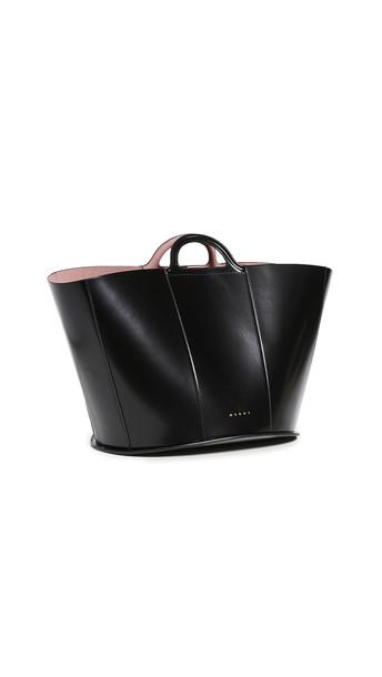 Marni Oversized Tote Bag in black