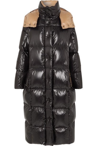 Moncler - Hooded Quilted Shell Down Coat - Black