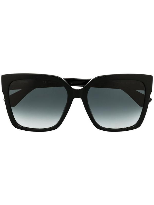 Moschino Eyewear studded square frame sunglasses in black