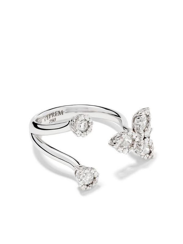 Yeprem 18kt white gold open diamond ring
