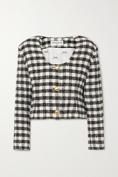 ROWEN ROSE - Checked Tweed Jacket - Black