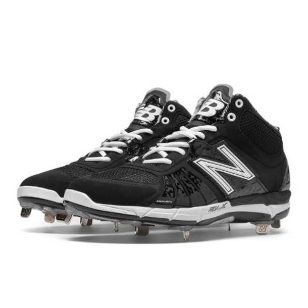 New Balance Mid-Cut 3000v2 Metal Cleat Men's Recently Reduced Shoes - Black (M3000BK2)