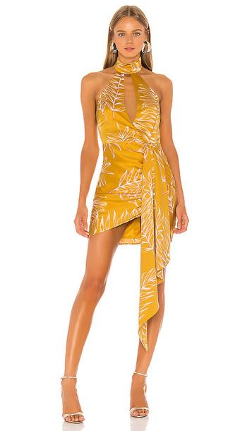 Camila Coelho Antonia Mini Dress in Yellow