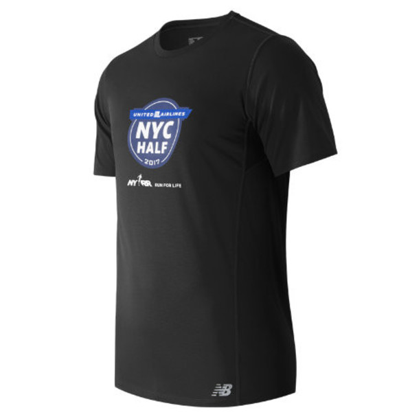 New Balance 53061 Men's United NYC Half SS Tee - Black (MT53061VBM)