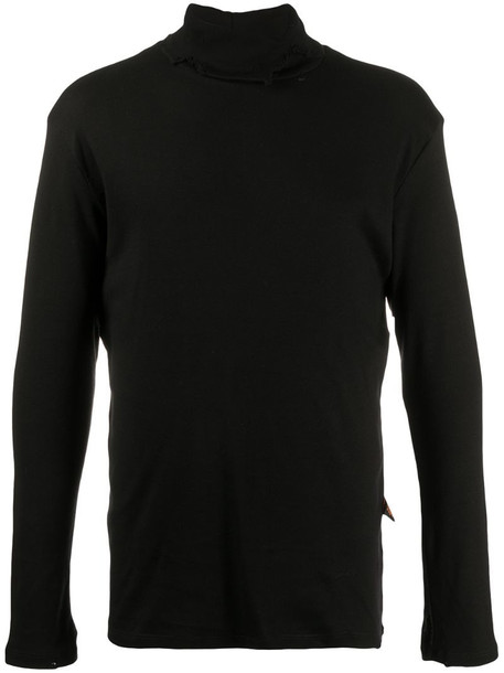 Liberal Youth Ministry distressed roll neck jumper in black