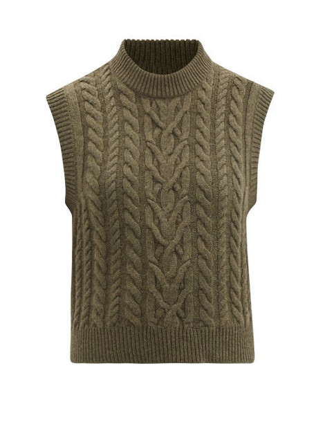Blazé Milano - Highland Wool-blend Sleeveless Sweater - Womens - Khaki