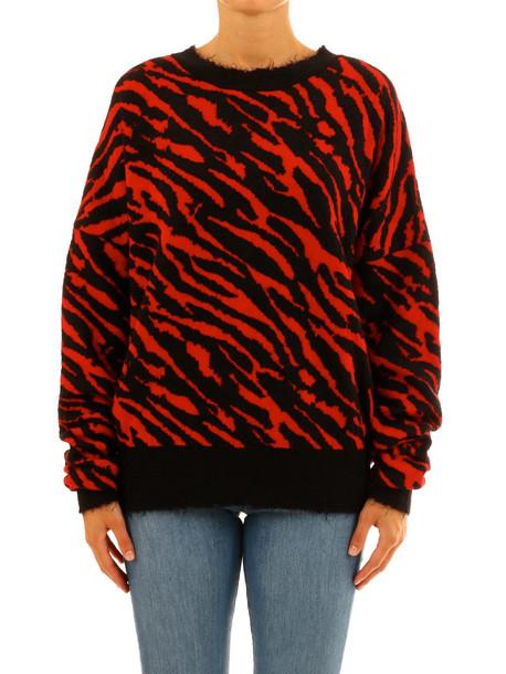 Ben Taverniti Unravel Project Zebra Sweater in red