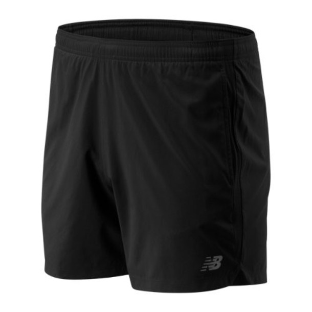 New Balance 93187 Men's Accelerate 5 In Short - Black (MS93187BK)
