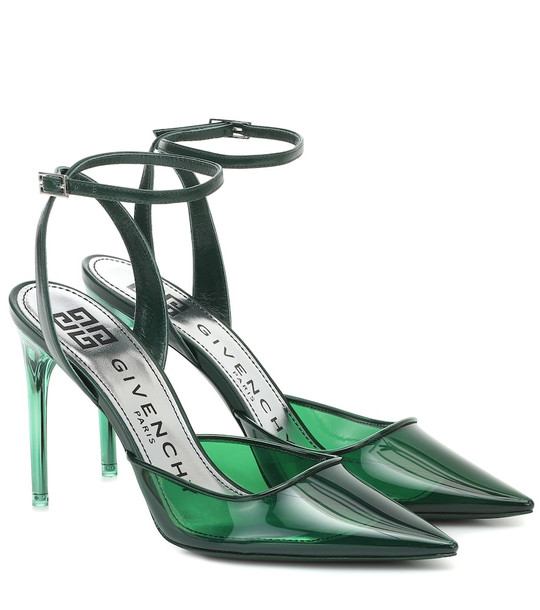 Givenchy PVC and leather pumps in green