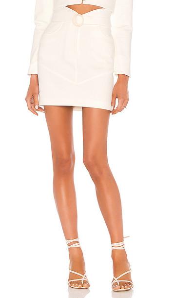 MAJORELLE Simi Mini Skirt in White