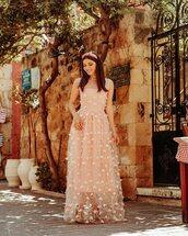 dress,pink dress,maxi dress,pumps,elegant,sleeveless dress