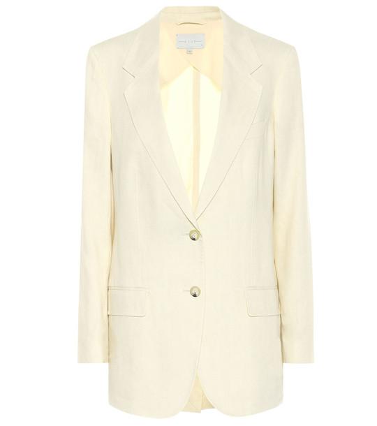 Arjé The Rey linen-blend blazer in beige