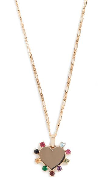 Ariel Gordon Jewelry 14k Candy Heart Carousel Necklace in gold / multi