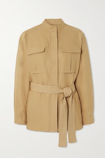 Loro Piana - Belted Linen Jacket - Beige