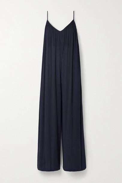 L'AGENCE - Hina Crepe Jumpsuit - Blue