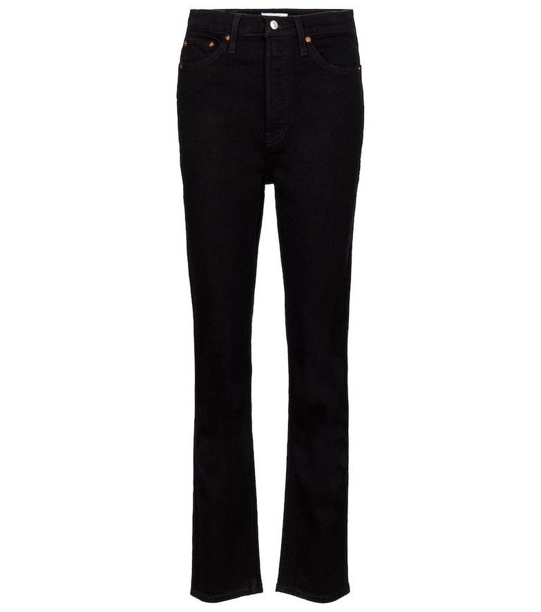 Re/Done 80s high-rise slim-straight jeans in black