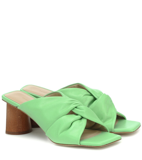 Rejina Pyo Naomi leather sandals in green
