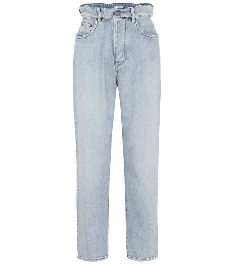 Miu Miu High-rise straight jeans in blue