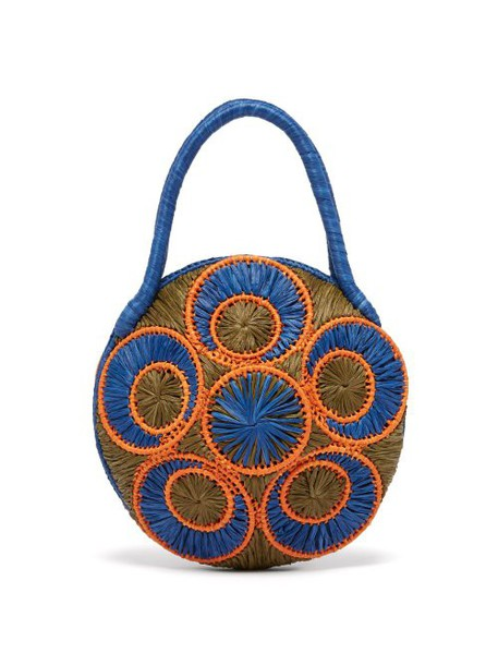 Sophie Anderson - Saba Woven Raffia Bag - Womens - Blue Multi