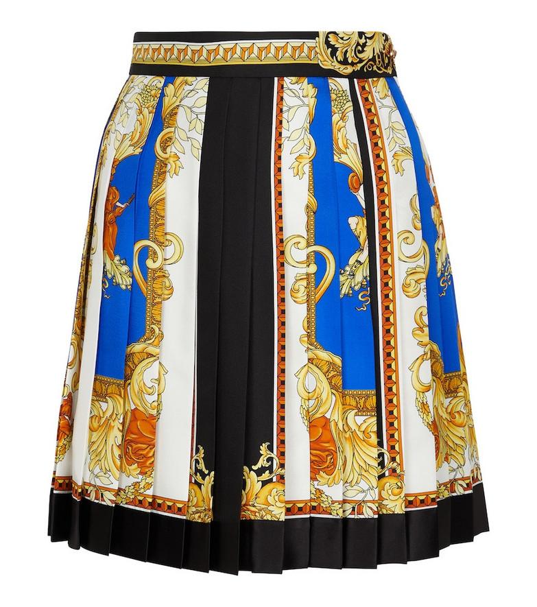 Versace Printed silk miniskirt