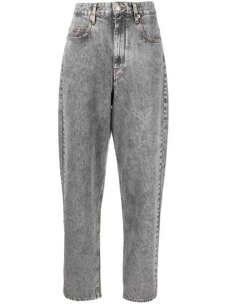 Isabel Marant Étoile high waisted wide leg jeans in grey