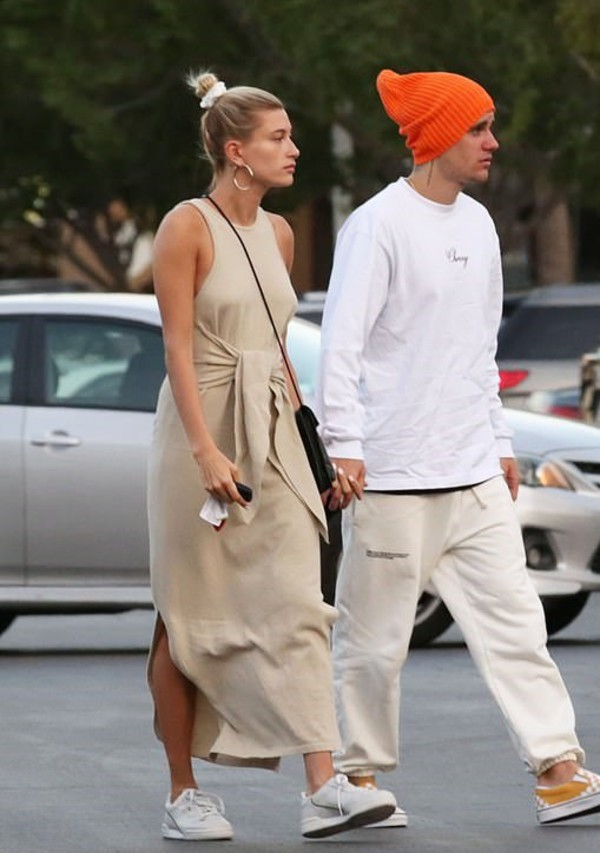 dress midi dress celebrity streetstyle hailey baldwin justin bieber