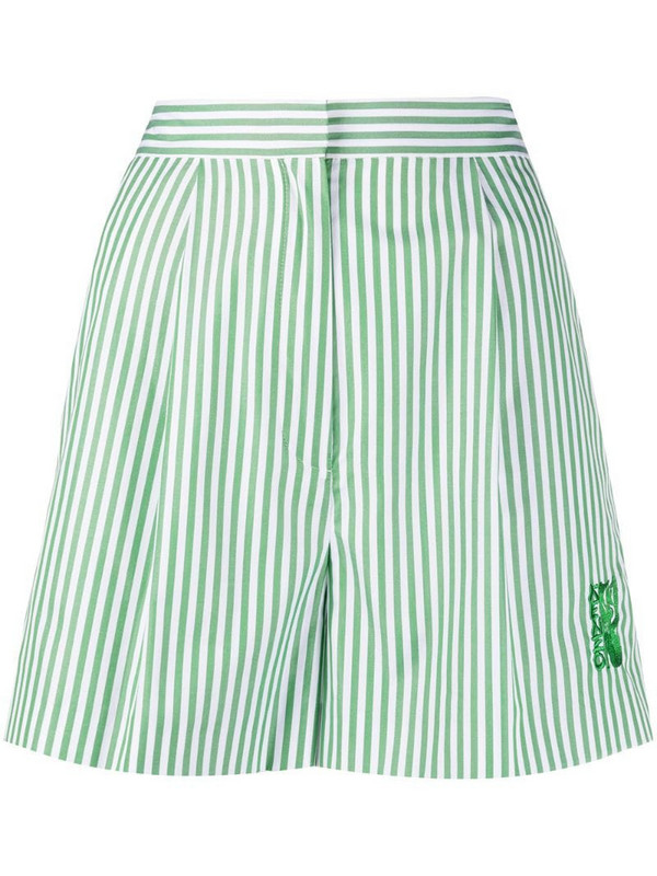 Kenzo high-waisted striped shorts in white