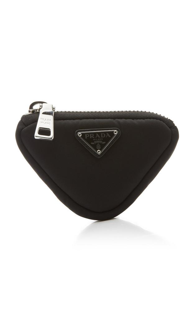 Prada Tessuto Shell Triangle Bag in black