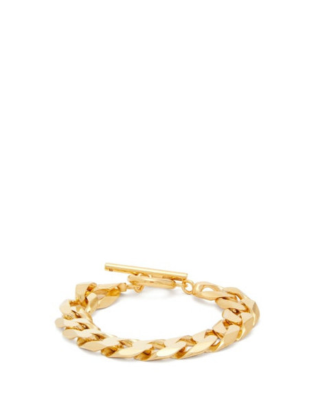 All Blues - Moto Flat-chain Gold-vermeil Bracelet - Womens - Gold