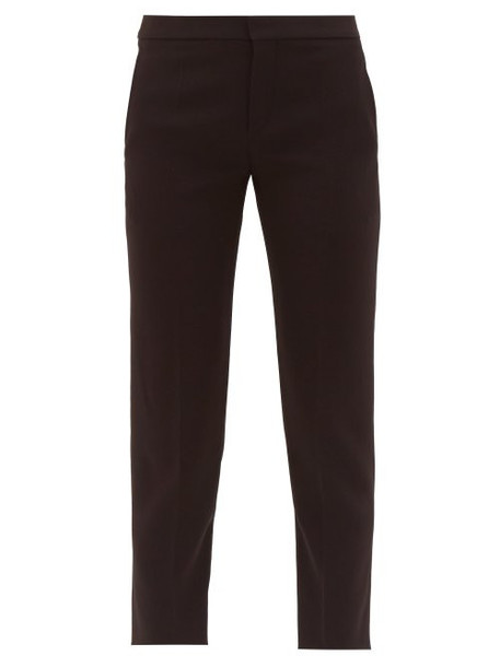 Chloé Chloé - Cropped Tailored Crepe Trousers - Womens - Black