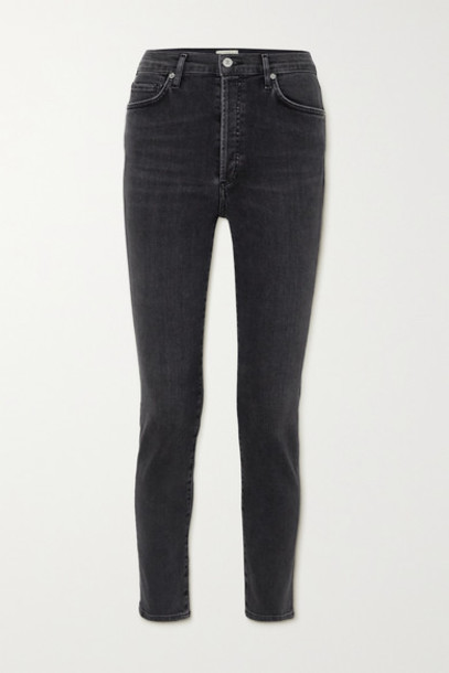 Citizens of Humanity - Olivia High-rise Slim-leg Jeans - Gray