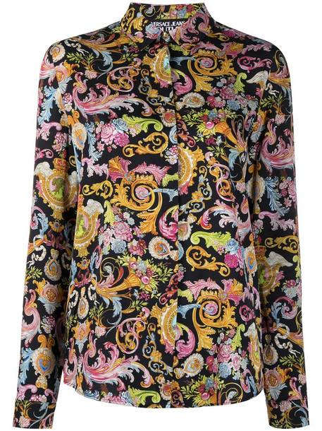 Versace Jeans Couture Versailles print shirt in black