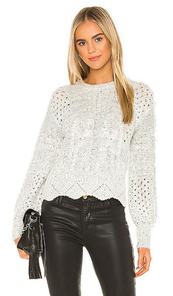 J.O.A. J.O.A. Scallop Sweater in Gray