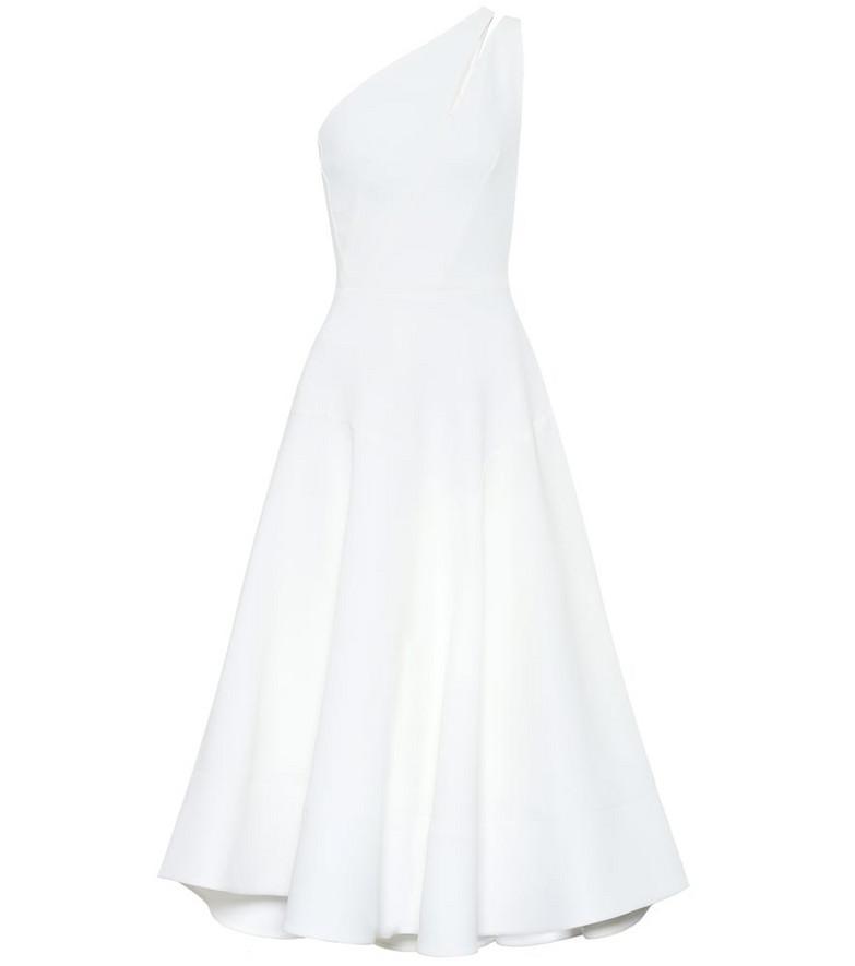 Maticevski Meteor crêpe midi dress in white