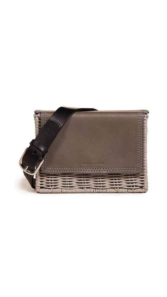 Wicker Wings Tao Clutch in grey
