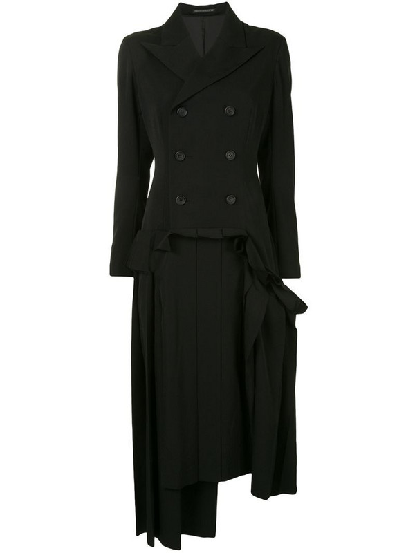 Yohji Yamamoto double breasted blazer dress in black