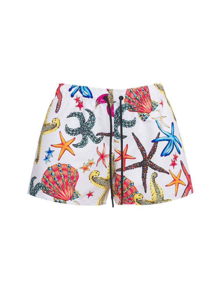 VERSACE Tresor De La Mer Print Nylon Shorts