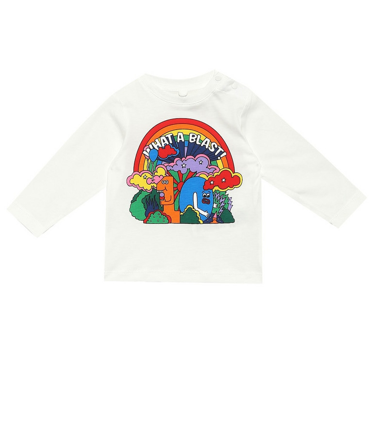Stella McCartney Kids Baby cotton jersey top in white