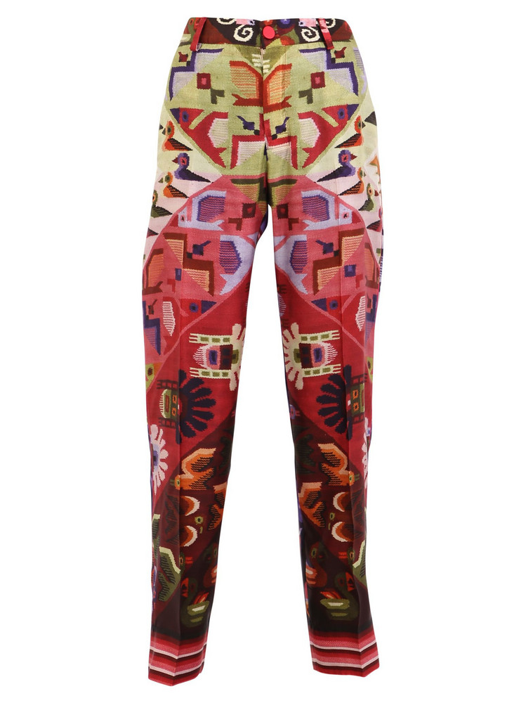 For Restless Sleepers Printed Twill Trousers in multi