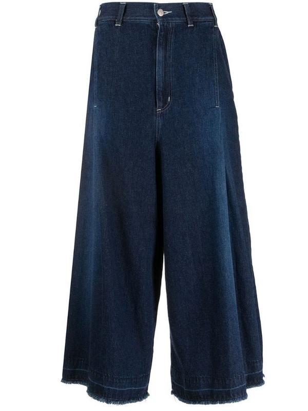 Zucca high rise wide leg jeans in blue