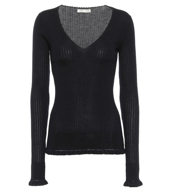 The Row Cashmere and silk sweater in blue