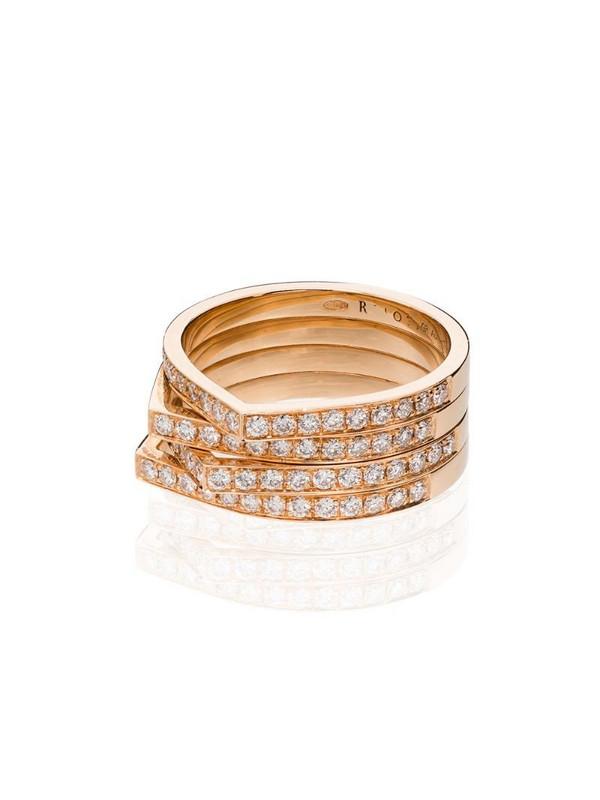 Repossi Antifer 18kt rose gold diamond ring in yellow