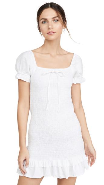 FAITHFULL THE BRAND Cette Mini Dress in white